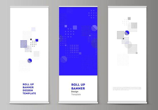 The layout of roll up banner stands