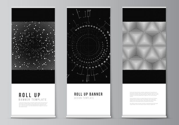 Layout of roll up design template.