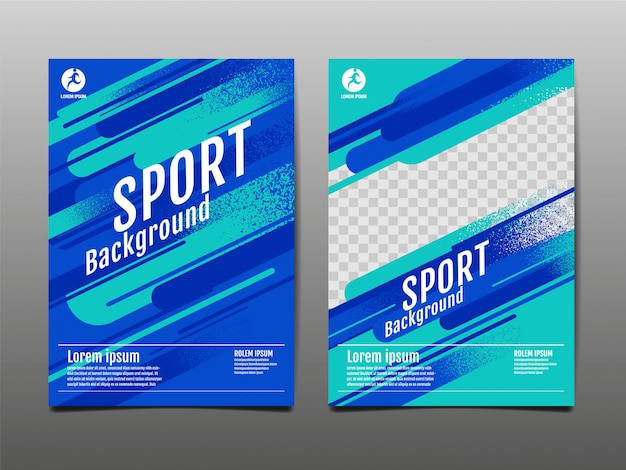 Layout template, sport background, dynamic poster, illustration.