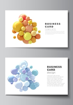 Layout of two cards design templates