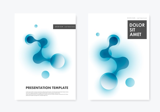 Layout two covers templates brochure technology and biotechnology and science background
