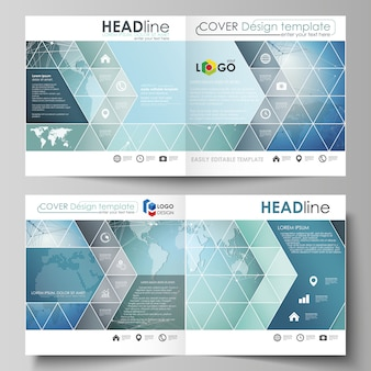 The layout of two covers templates