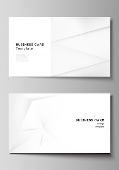 Layout of two creative business cards design templates, horizontal template   design. halftone effect decoration with dots. dotted pop art pattern decoration.