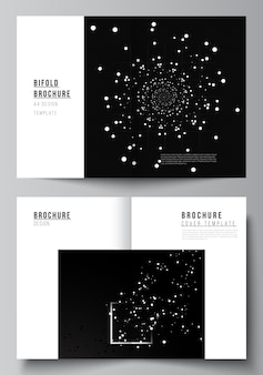 Layout of two mockups templates for brochure