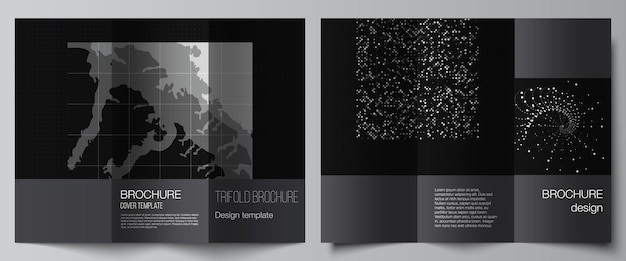Layouts of covers templates for trifold brochure