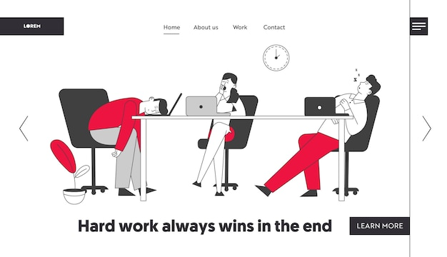Laziness website landing page