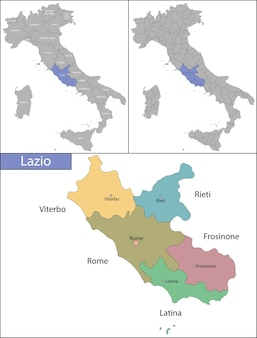 Lazio is an administrative region of italy located on the central portion of the italian peninsula