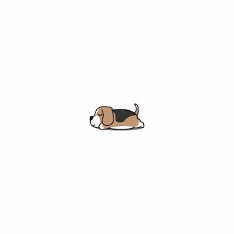 Lazy beagle puppy sleeping icon