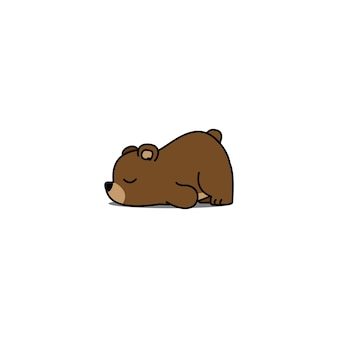 Lazy bear cartoon