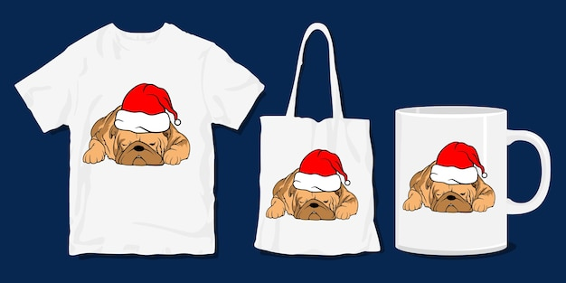 Lazy dog t-shirt . cute funny christmas cartoon t shirt and merchandise