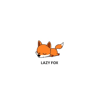 Lazy fox sleeping icon