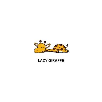Lazy giraffe sleeping icon