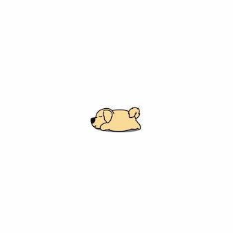 Lazy golden retriever dog sleeping icon
