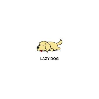 게으른 골든 리트리버 강아지 자 아이콘
