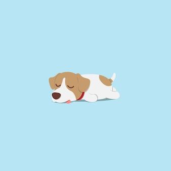 Щенок ленивого гнезда russell спящий плоский дизайн иконок