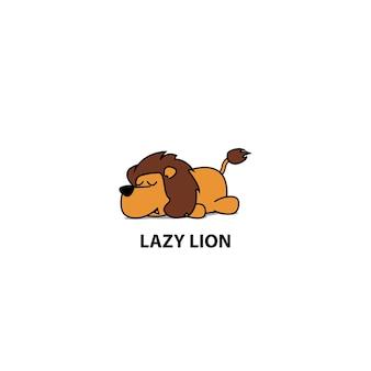 Lazy lion sleeping icon