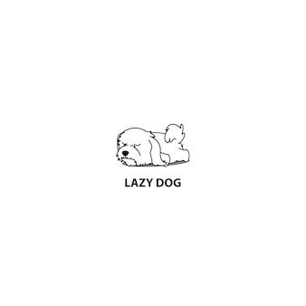 Lazy maltese puppy sleeping icon