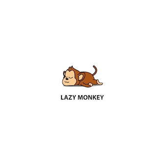 Lazy monkey sleeping icon