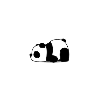 Lazy panda cartoon
