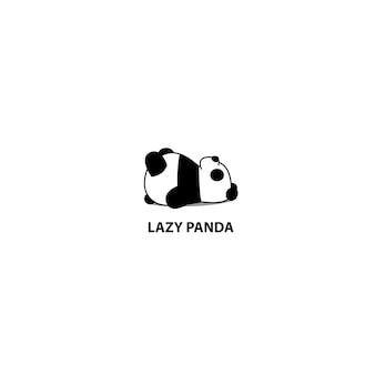 Lazy panda sleeping icon