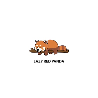 Lazy red panda sleeping