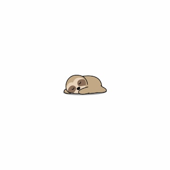 Lazy sloth sleeping cartoon icon