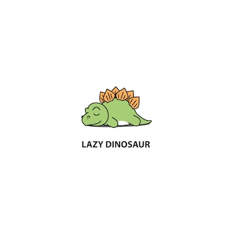 Lazy stegosaurus dinosaur sleeping icon