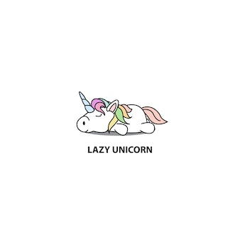 Lazy unicorn sleeping icon