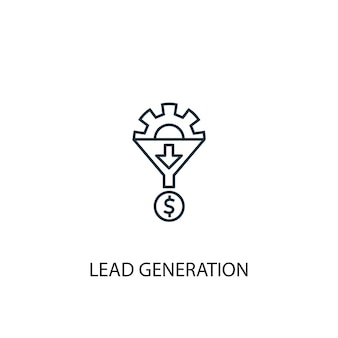 Lead generation concept line icon. simple element illustration. lead generation concept outline symbol design. can be used for web and mobile ui/ux
