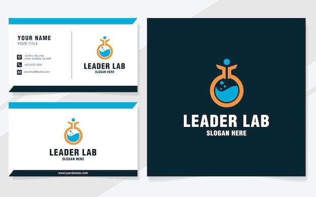 Leader lab logo template on modern style