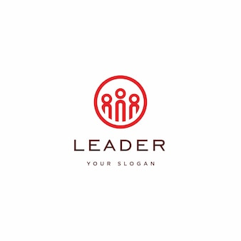 Leader logo illustration