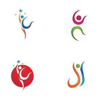 Лидер успех люди логотип символ