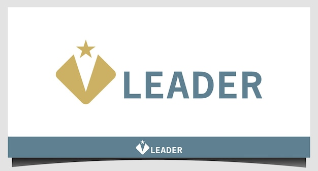 Leader with typography text design vector