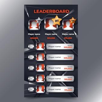 抽象的な背景を持つリーダーボード