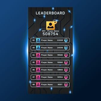 Leaderboard with abstract background