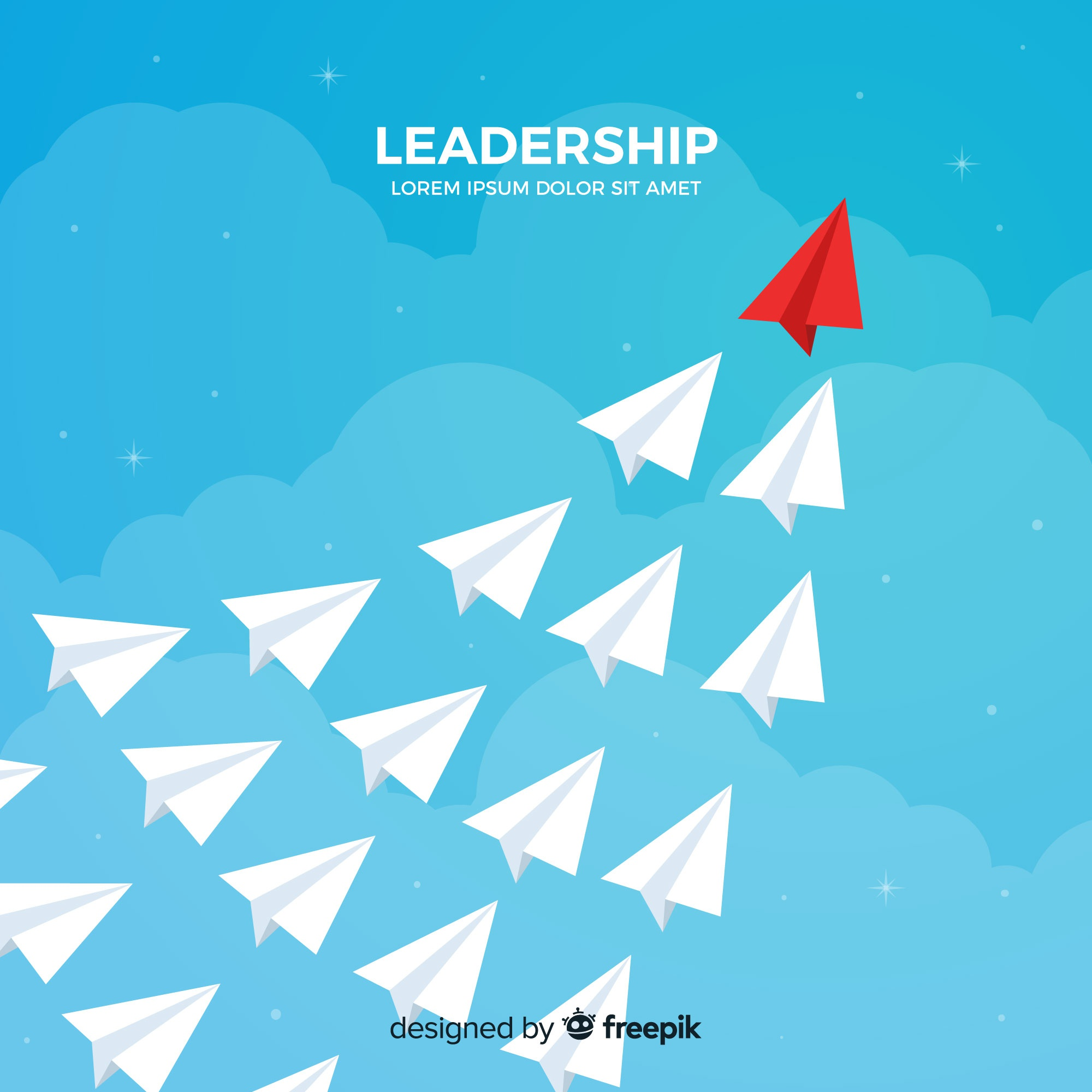 Leadership and paper planes concept