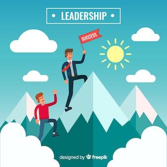 Leadership background in flat design