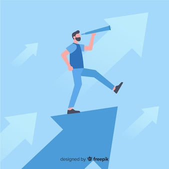Leadership background in flat design