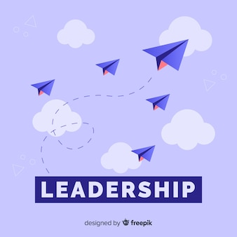 Leadership concept and paper planes