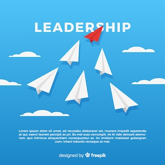 Leadership concept in flat design