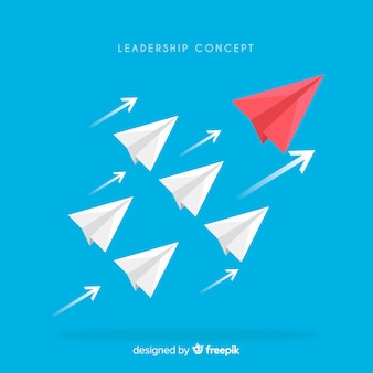 Leadership concept in flat style