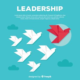 평면 디자인의 리더십 개념