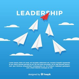 フラットデザインにおけるリーダーシップコンセプト