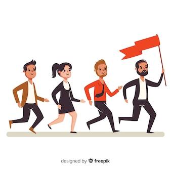 Концепция лидерства в плоском дизайне
