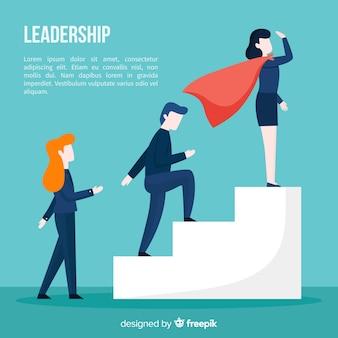 평면 스타일의 리더십 개념