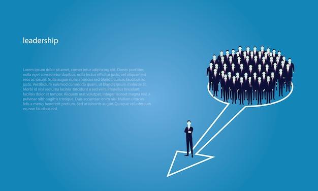 Концепция лидерства. менеджер ведущая команда рабочих перейти к началу страницы