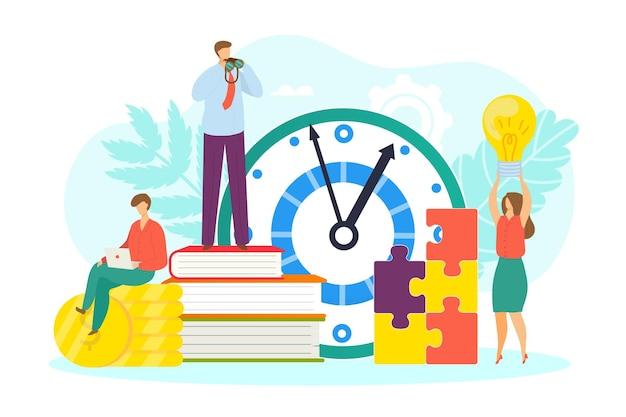 Концепция лидерства векторная иллюстрация успех работы в бизнесе по стратегии крошечный мужчина женщина характер ne ...