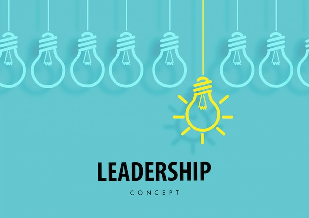 Leadership concept with light bulb