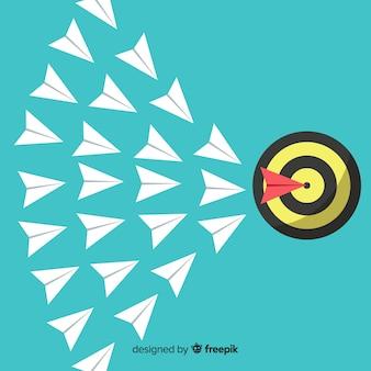 Концепция лидерства с бумажными плоскостями