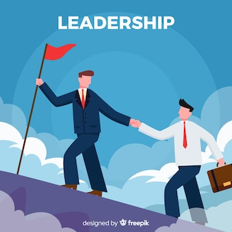 Leadership design in flat style